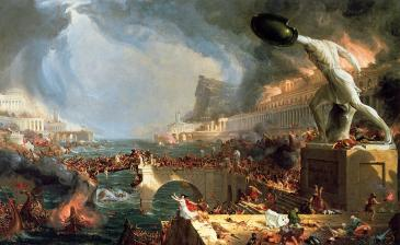 The Course of the Empire: Destruction by Thomas Cole